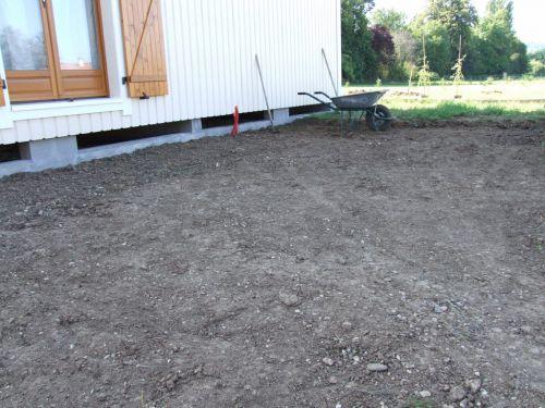 très temporairement davoir les pompes collées de terre argileuse