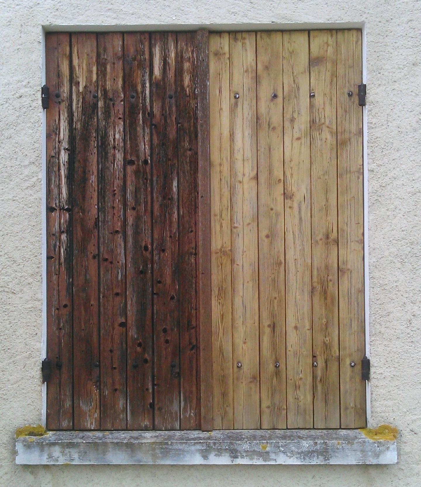 Rénovation de volets bois avec reconstitution de lames  ~ Renover Des Volets En Bois