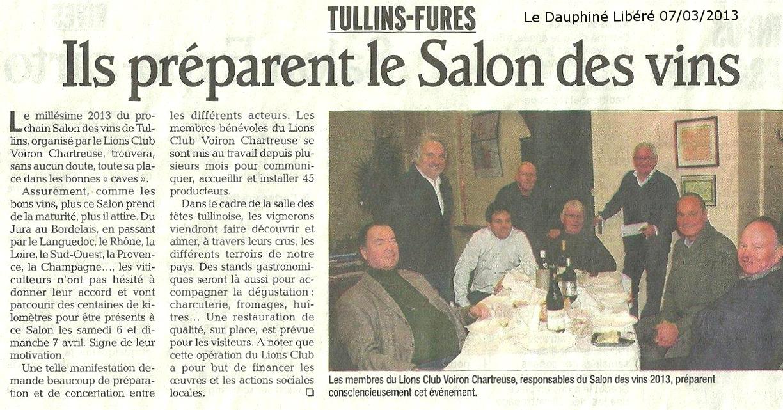 Revue de presse blog des lions clubs de grenoble voiron for Salon vin grenoble