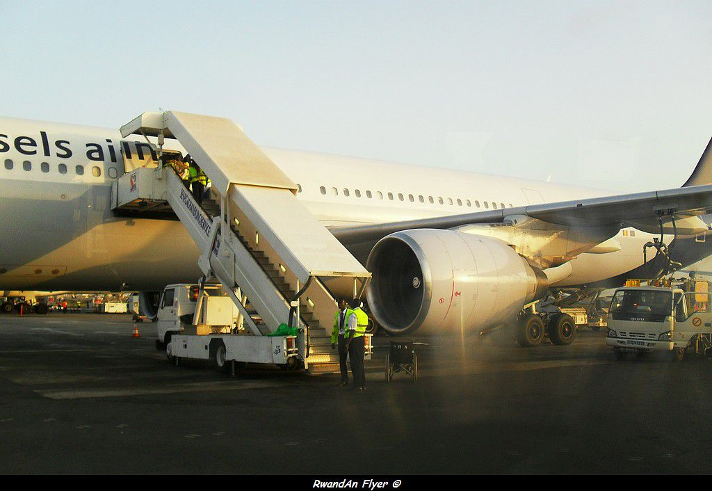 Brussels Airlines's A330 hits a lighting pole at Kigali (Rwanda ...