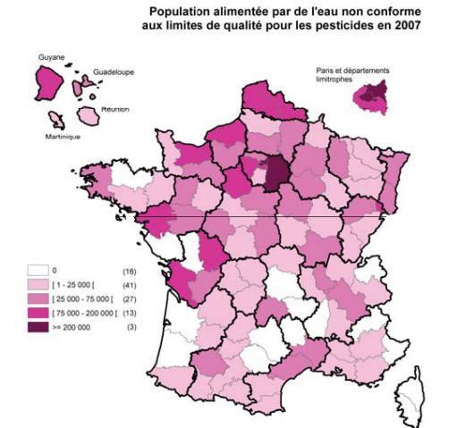 Pesticides contamination de l 39 eau et impact sur la sant - Qualite de l eau du robinet en france ...
