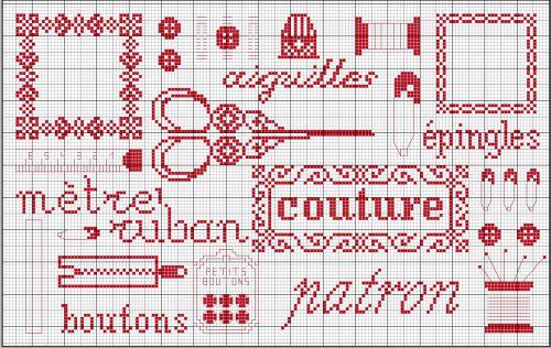 Broderie grilles gratuites broderie couture 1 2 3 flo - Grille point de croix gratuite a imprimer ...