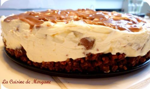 Cheesecake aux mars la cuisine de morgane for La cuisine de morgane