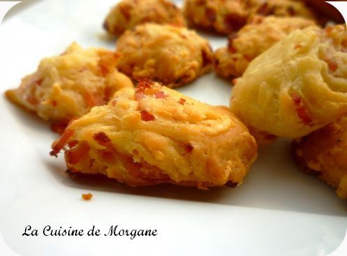 Cookies jambon et emmental la cuisine de morgane for La cuisine de morgane