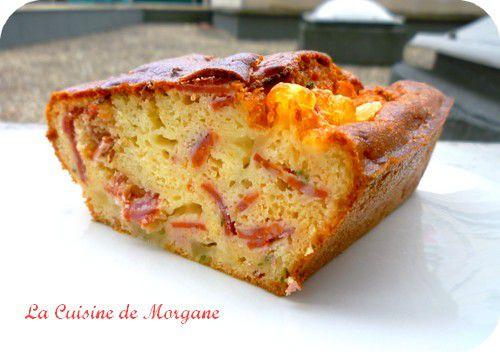 Cake chorizo et mozarella la cuisine de morgane for La cuisine de morgane