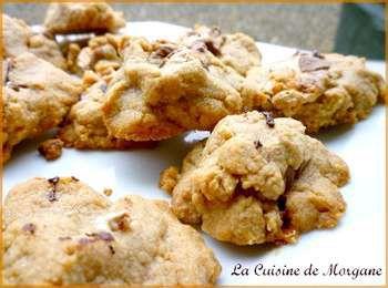 Cookies au beurre de cacahu te et mars la cuisine de morgane for La cuisine de morgane
