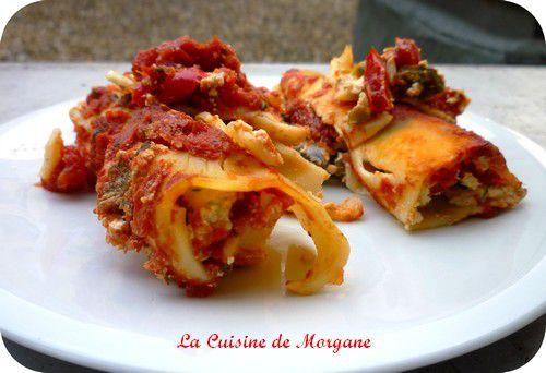 Cannellonis ricotta et poivrons la cuisine de morgane for La cuisine de morgane