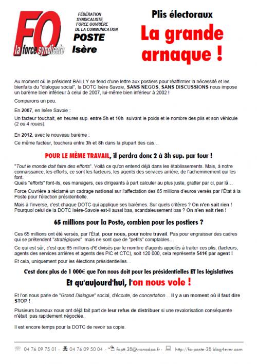 plis électoraux mars 2012