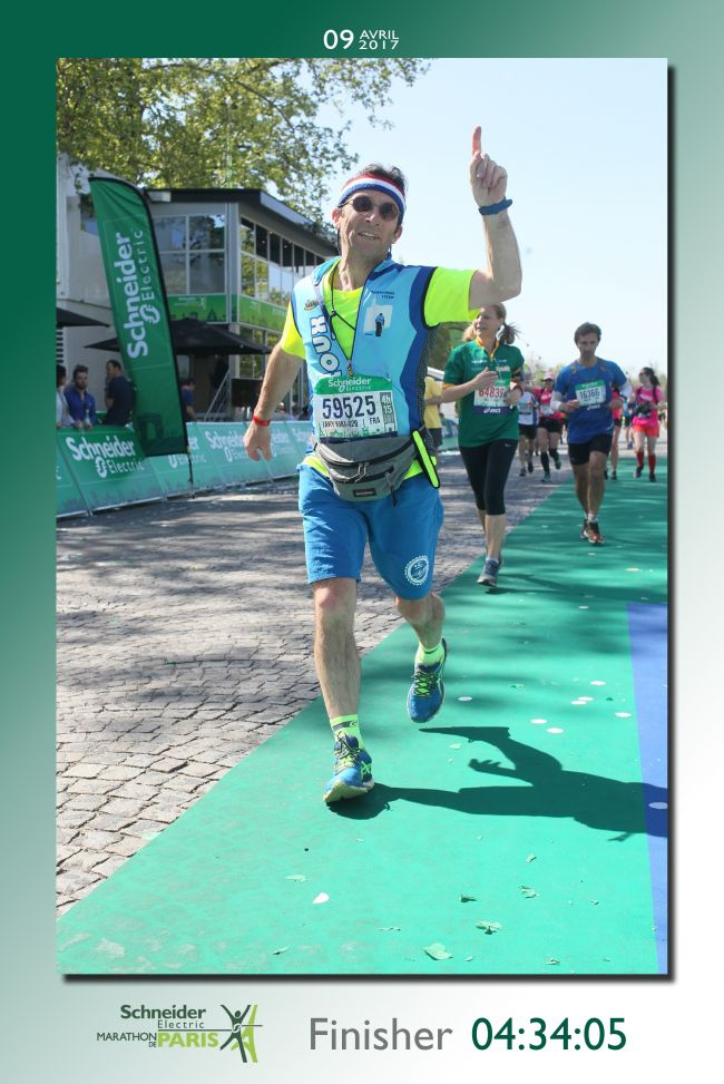 arrivée Marathon de Paris 2017