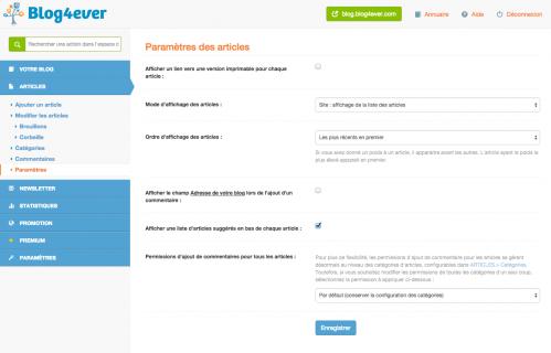 Articles   Parame�tres   Espace de Gestion   Blog4ever.png
