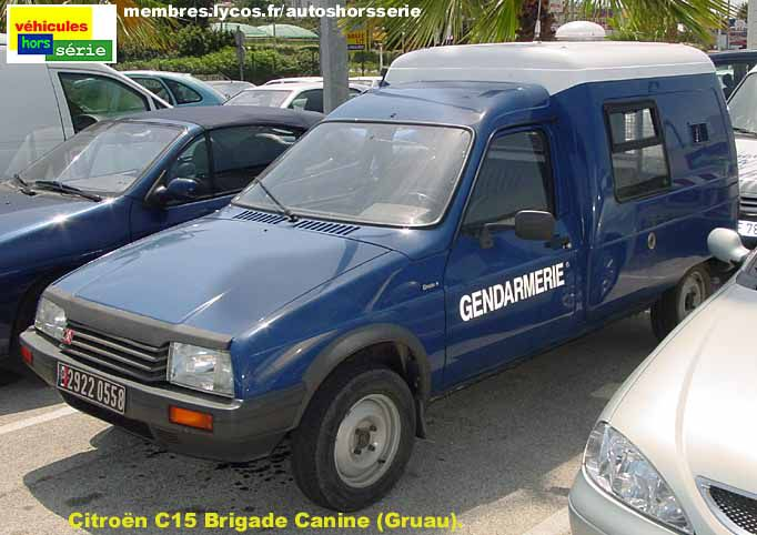 citroen c15 gendarmerie brigade canine international police association. Black Bedroom Furniture Sets. Home Design Ideas