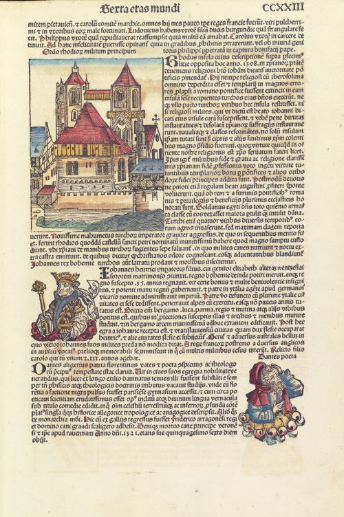Chroniques de Nuremberg par Hartmann Schedel_Incunable_1493_Feuillet imprimé et illustré