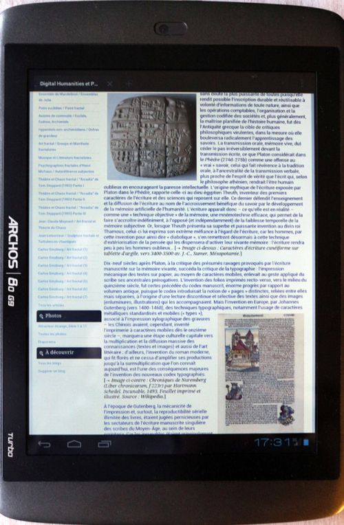Tablette tactile numérique_page du blog