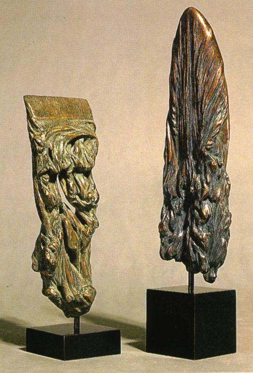 Jean Letourneur_Anabase, 1995_Biface, 1994_Bronzes