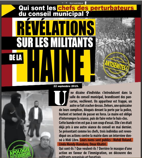 numéro d'octobre 2015 du journal municpal de Bézier