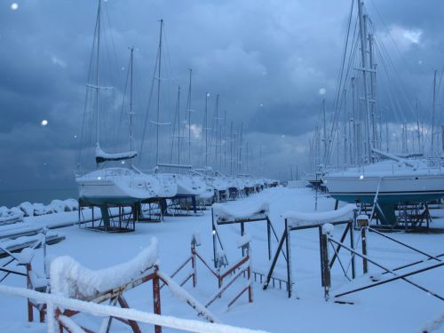 Le port autonome sous la neige