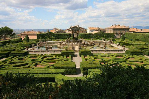 Les jardins de la villa Lante en Italie