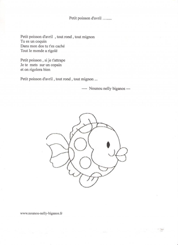 2 comptines que j 39 ai invent poisson d 39 avril et p ques - Poisson en maternelle ...