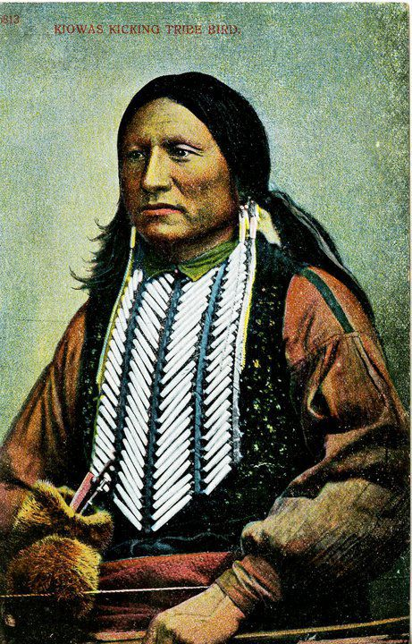 Kicking Bird - Kiowa - 1868 (colorized circa 1905)