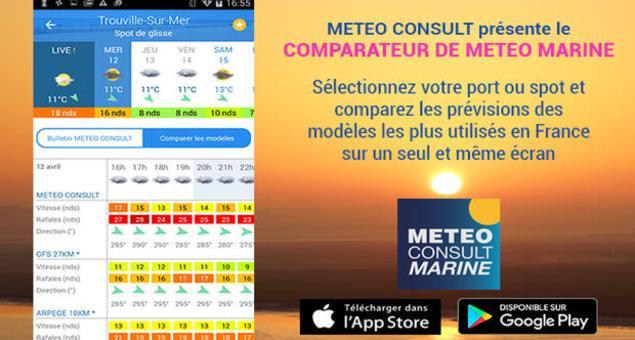Comparateur m t o marine des ports et des spots par m t o - Meteo marine de cerbere a port camargue ...