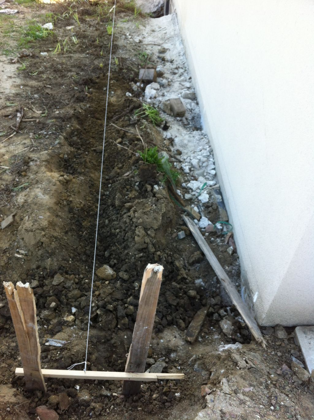 02 pr paration du chantier conception r alisation de ma terrasse en bois. Black Bedroom Furniture Sets. Home Design Ideas