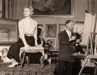 jean gabriel domergue 1884 1973 atelier portrait pastel aquarelle visages dessin regard. Black Bedroom Furniture Sets. Home Design Ideas