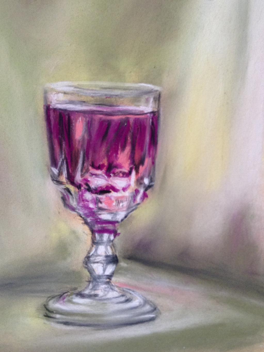Correction cours virtuel 7 peindre la transparence - Peindre des verres a pied ...
