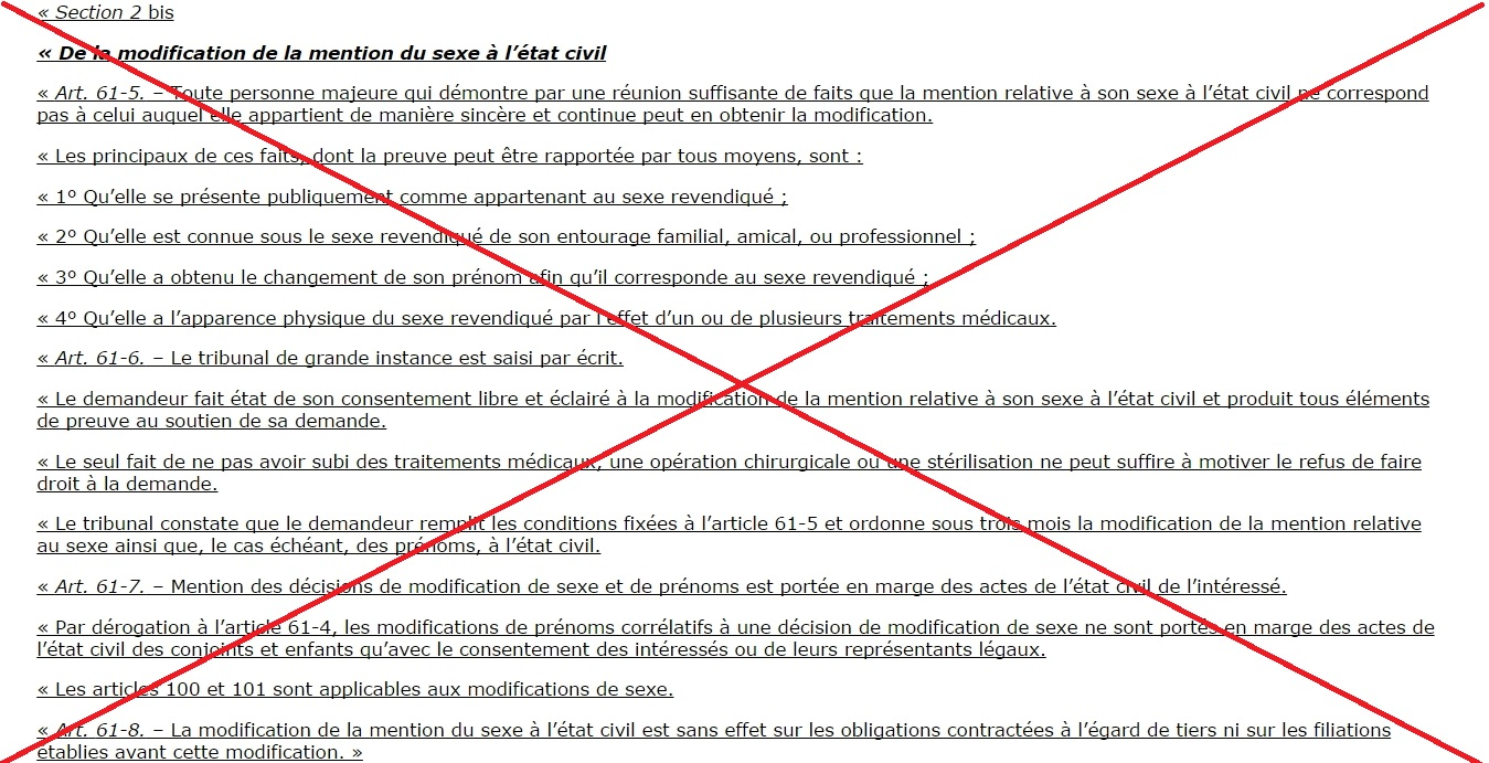 France transphobie de l 39 article 18 quarter section 2 bis - Article 675 du code civil ...