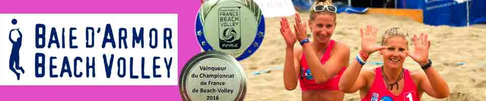 Volley-Ball sur Saint Brieuc avec le Baie d'Armor Beach Volley