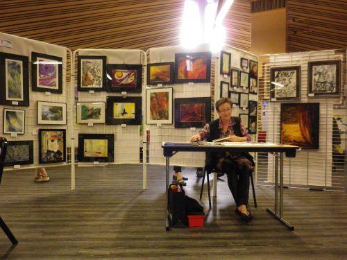 Tableaux exposés par Marlène Vannier