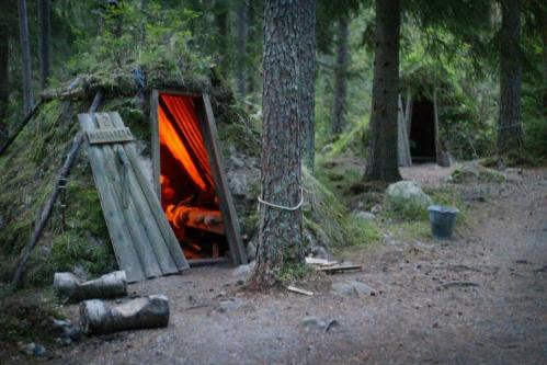 Kolarbyn is a hotel in Sweden that consists of 12 huts lit.jpg