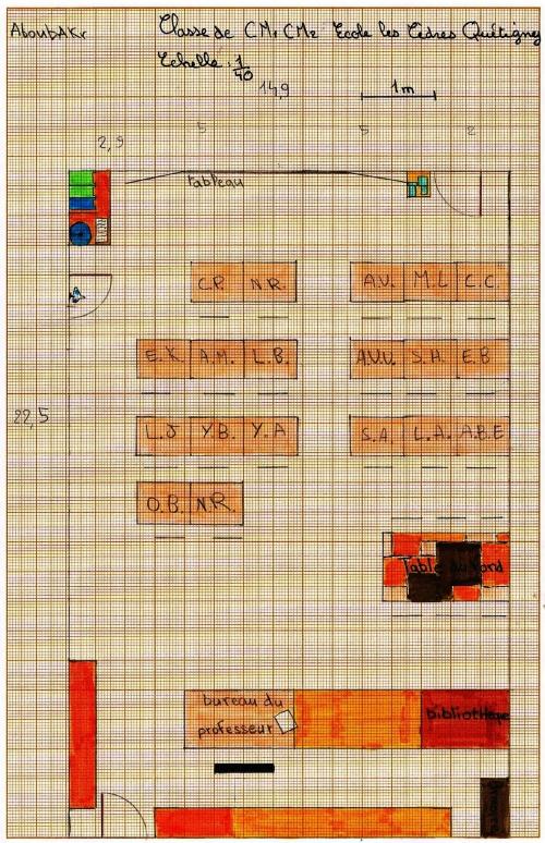 Plan de la classe de CM1-CM2 - Abou Bakr.jpg