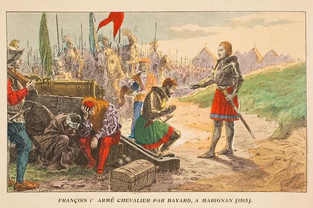 François 1er armé chevalier par Bayard 1515.jpg