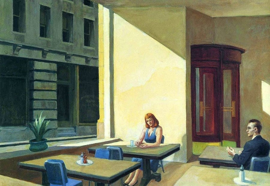 Sunlight in a Cafeteria Edward Hopper 1958.jpg
