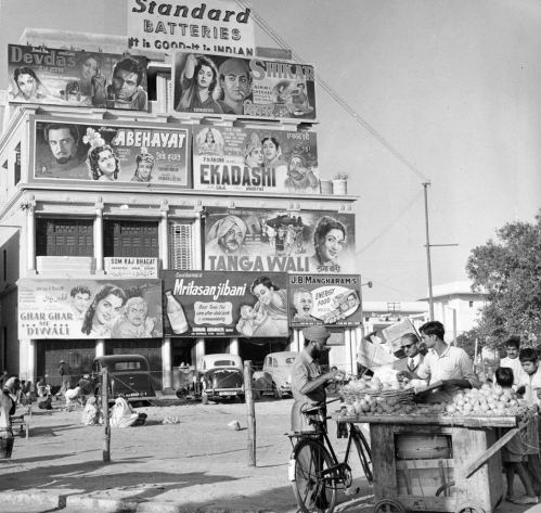 an advertising hoarding promoting several films in New Delhi India - c1950's richard harrington.jpg