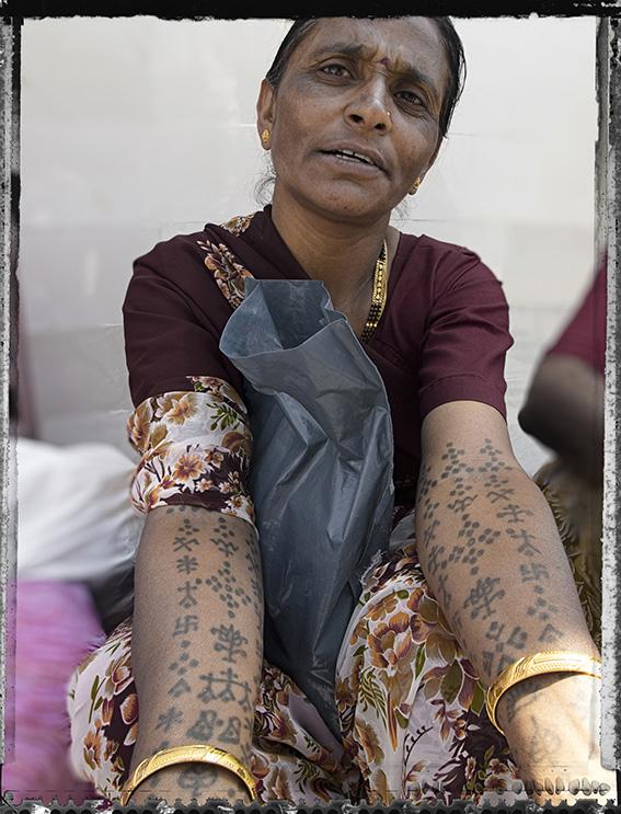 Blog 30x40 cms Tattoo Tribal TT 04  Brahmin lady Dwarka.jpg