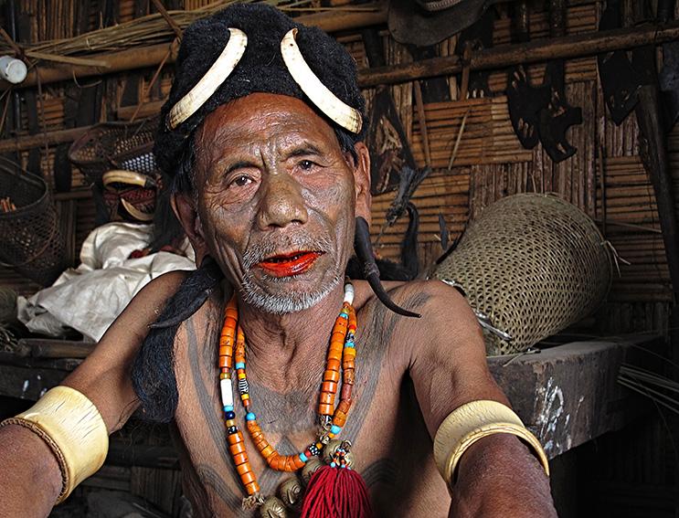 Blog 30x40 cms Tattoo Tribal TT 21 Hoingpoi chief - Nagaland.jpg