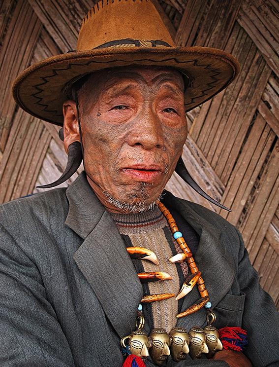 Blog 30x40 cms Tattoo Tribal TT 22 Konyak facial tattoo - Nagaland.jpg