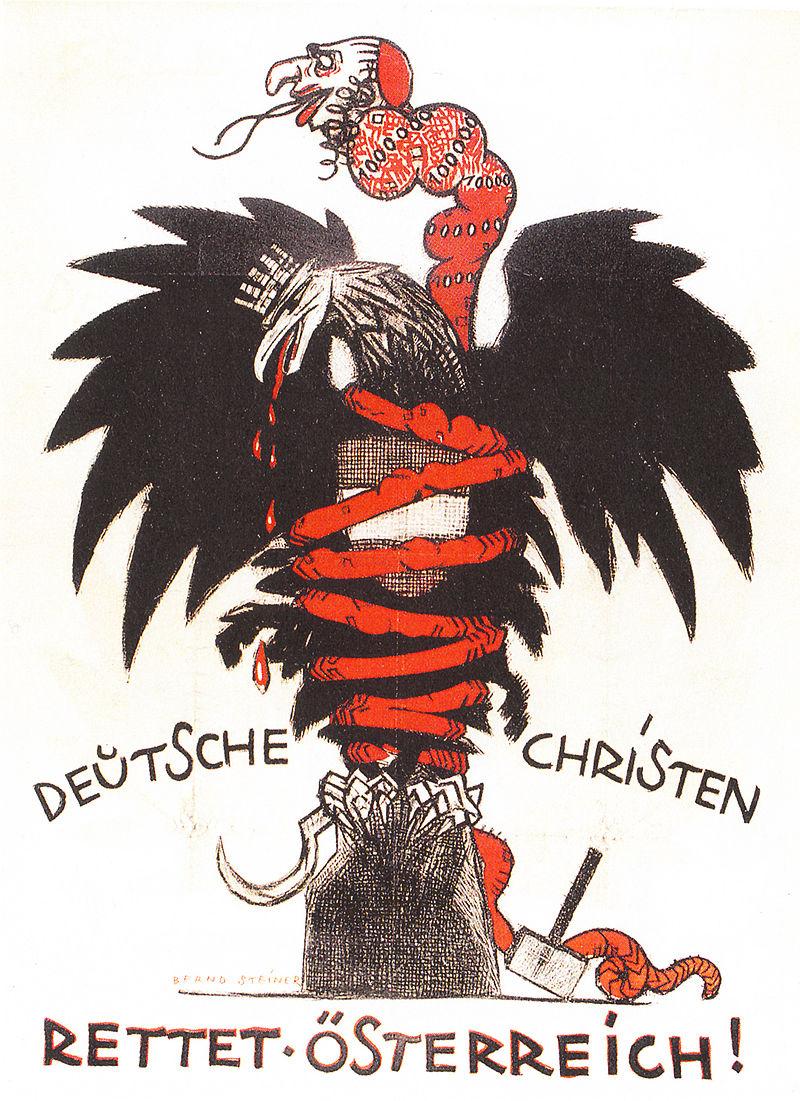 Caricature antisémite sur une affiche électorale du parti chrétien-social à Vienne 1920.jpg