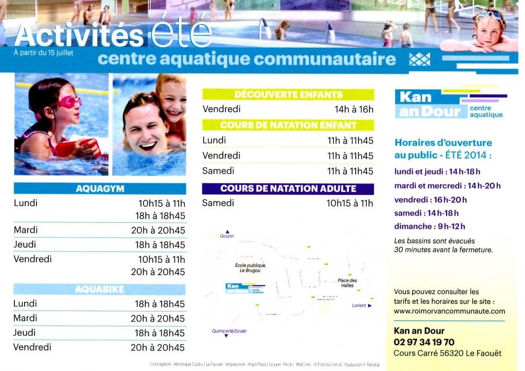 Horaires d 39 ouverture de la piscine du faou t mes informations - La defense horaire d ouverture ...