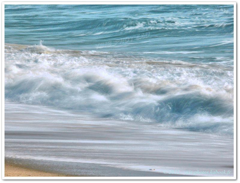 vagues, océan, bretagne