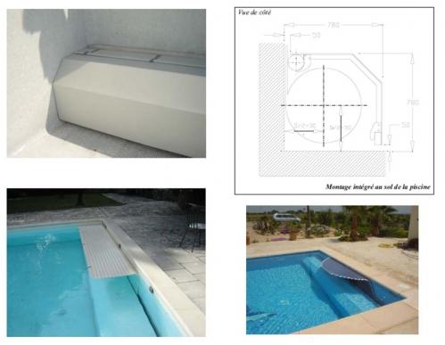 Installer un volet roulant sur une piscine existante for Piscine miroir et volet roulant