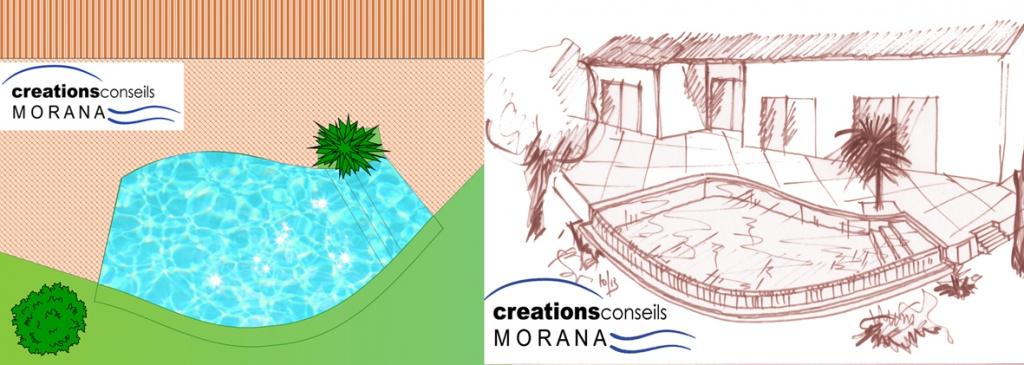 plan et perspective r alit et anamorphose mon plan de piscine creation en ligne plan. Black Bedroom Furniture Sets. Home Design Ideas