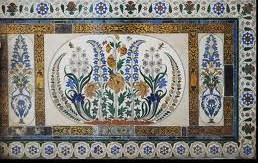 Udaipur city palace panneau carrelage.jpg