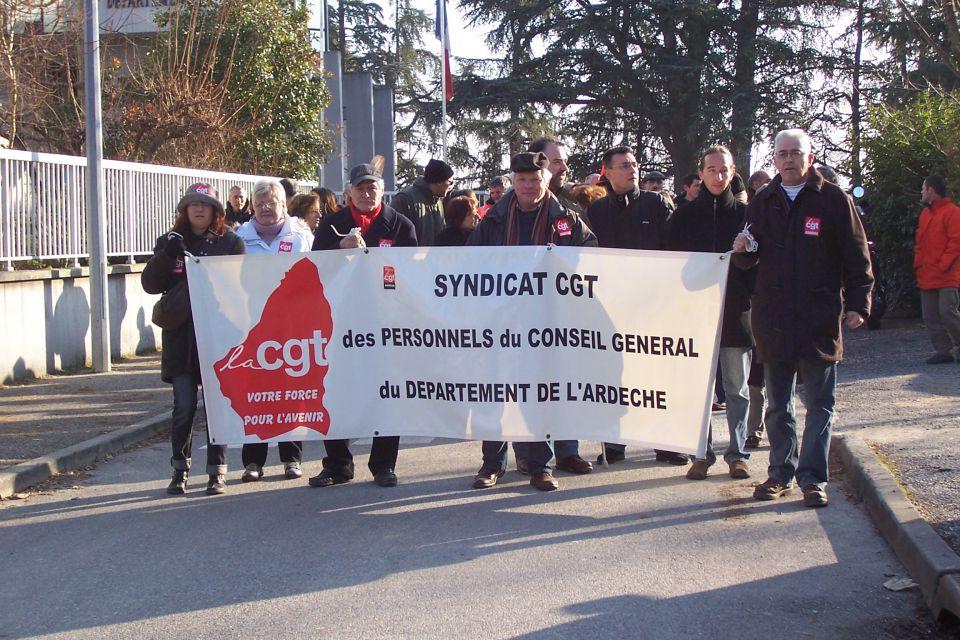 Syndicat CGT des personnels du CD07