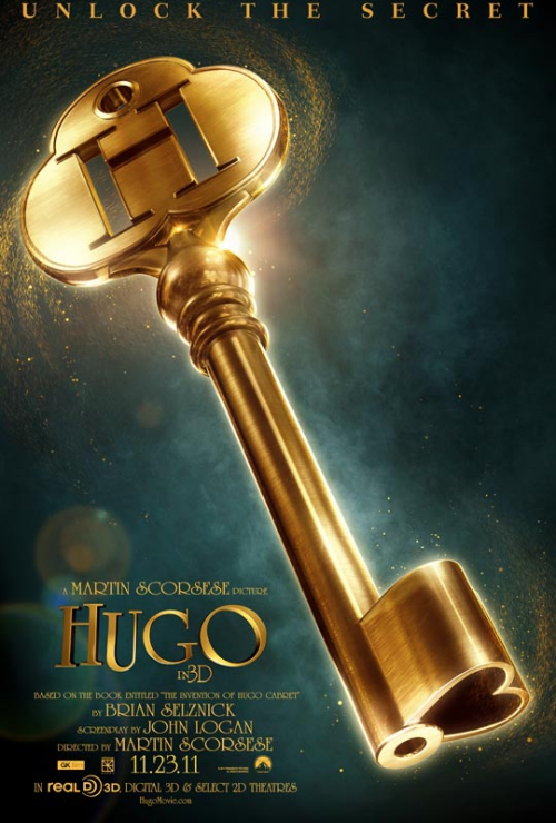 Affiche d'Hugo Cabret, de Martin Scorsese (2011)