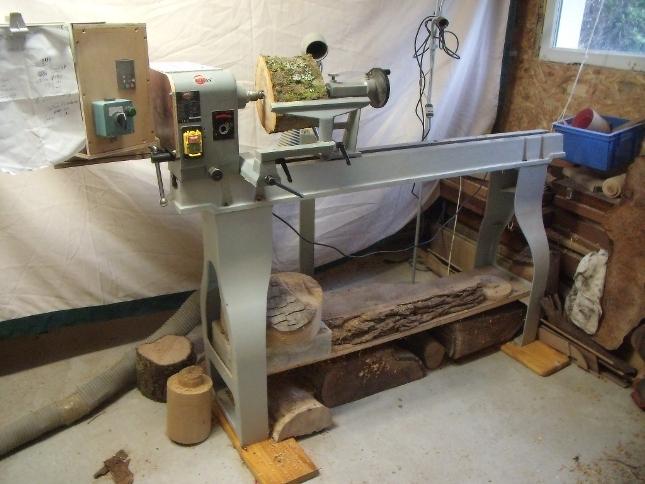 Le tour a bois breizh bois - Fabriquer un tour de potier ...