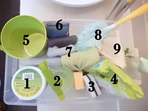 organisation ménage: se créer un caddy de nettoyage www.mon-carnet-deco.com