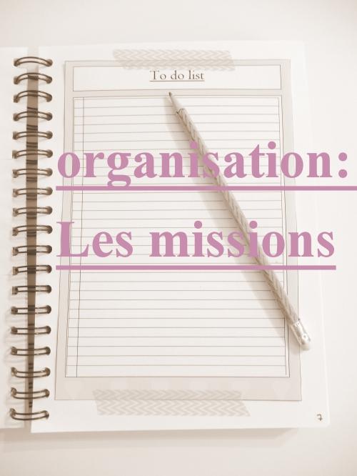Organisation: les missions www.mon-carnet-deco.com