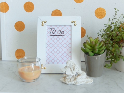 Diy organisation: la to do list effaçable